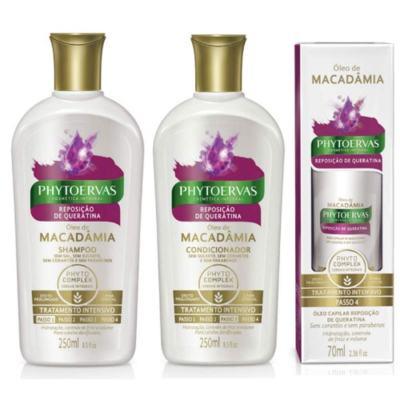 Compre Shampoo + Condicionador Phytoervas Reposição De Queratina e ganhe 50% de desconto no Óleo De Tratamento