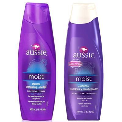Kit Aussie Moist Shampoo 400ml + Condicionador 400ml