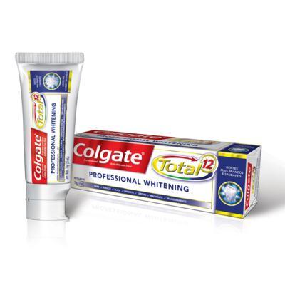 Imagem 1 do produto Creme Dental Colgate Total 12 Professional Whitening - 70g