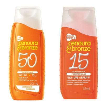 Compre Protetor Cenoura & Bronze FPS 50 e ganhe Protetor Com Cor FPS 15
