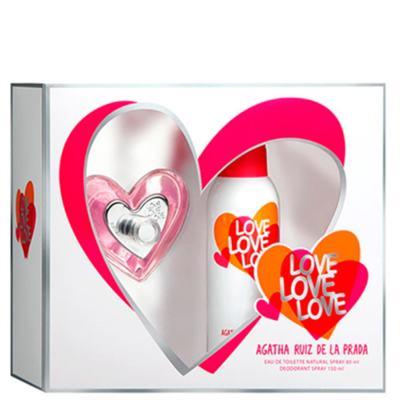 Imagem 1 do produto Love Love Love Agatha Ruiz de La Prada - Feminino - Eau de Toilette - Perfume + Gel de Banho - Kit