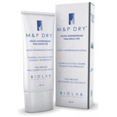 Antiperspirante Loção para Mãos e Pés M&P Dry - 60ml