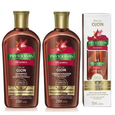 Compre Shampoo + Condicionador Phytoervas Pós-Química e ganhe 50% de desconto no Óleo De Tratamento