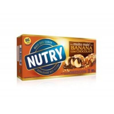 Barra de Cereal Nutry Banana com Chocolate C/ 3 Unidades