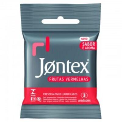 Imagem 1 do produto Preservativo Jontex Frutas Vermelhas 3 Unidades