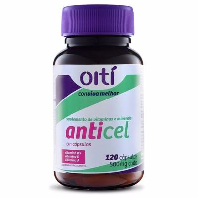Anticel 500mg Oiti 120 Cápsulas