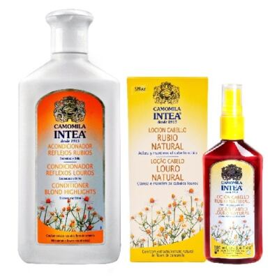 Loção Capilar Intea Loiro Natural 100ml + Condicionador Intea Reflexos Louros Camomila 250ml