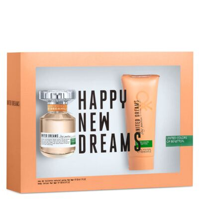 Imagem 1 do produto United Dreams Stay Positive Benetton - Feminino - Eau de Toilette - Perfume + Loção Corporal - Kit