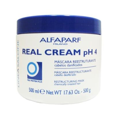 Imagem 1 do produto Real Cream PH4 Alfaparf - Máscara Reconstrutora - 500g