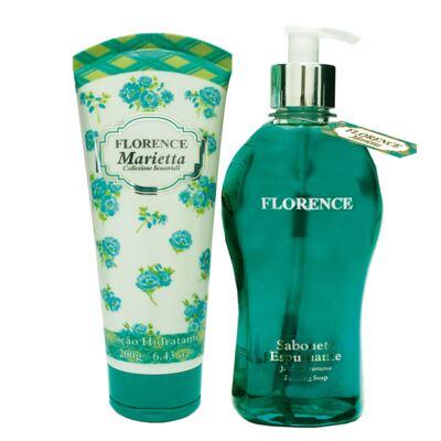 Imagem 1 do produto Marietta Florence - Kit Sabonete Liquido 510ml + Loção Corporal 200ml - Kit
