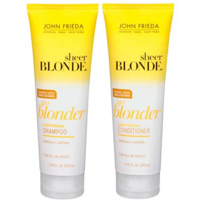 Kit Shampoo + Condicionador John Frieda Sheer Blonde Go Blonder Lightening - Kit