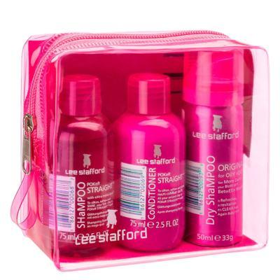 Imagem 1 do produto Kit Shampoo + Condicionador + Shampoo Seco Lee Stafford S.O.S Poker Straight - Kit