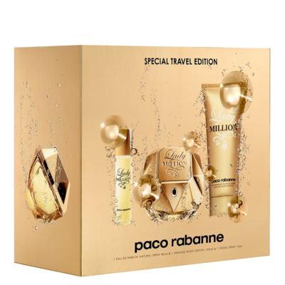 Imagem 1 do produto Lady Million Paco Rabanne - Feminino - Eau de Parfum - Perfume + Loção Corporal + Miniatura - Kit