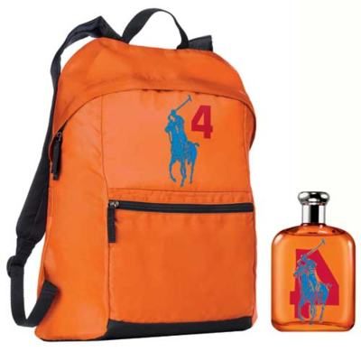 Imagem 1 do produto Polo Big Pony 4 Ralph Lauren - Masculino - Eau de Toilette - Perfume + Mochila - kit