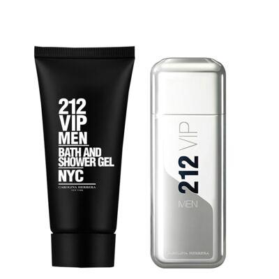 Imagem 1 do produto 212 Vip Men Carolina Herrera  - Masculino - Eau de Toilette - Perfume + Gel de Banho - Kit