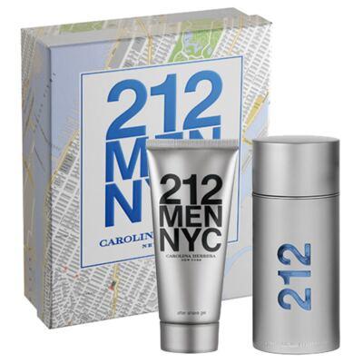 Imagem 1 do produto 212 Men Nyc Carolina Herrera - Masculino - Eau de Toilette - Perfume + Loção Pós-barba - Kit
