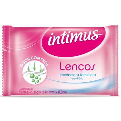 Imagem 19 do produto Absorvente Intimus Gel Normal Ultra Proteção com abas com 8 unidades + Lenços Umedecidos Intimus com 16 Unidades