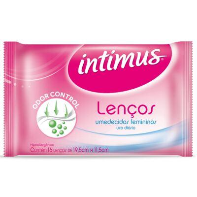 Imagem 15 do produto Absorvente Intimus Gel Normal Ultra Proteção com abas com 8 unidades + Lenços Umedecidos Intimus com 16 Unidades