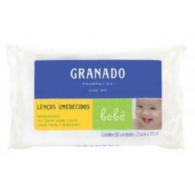 Imagem 2 do produto Lenços Umedecidos Granado Bebê Tradicional C/ 50 Unidades