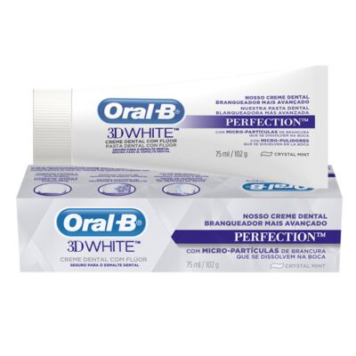 Imagem 28 do produto Kit Oral-B 2 Escovas Indicator 30 Plus + Creme Dental 3D White Perfect 75g