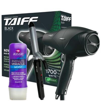 Imagem 12 do produto Kit Secador Taiff Black 1700W + Modelador de Cacho Lizz Wave + Aussie Moist Tratamento 3 Minutos