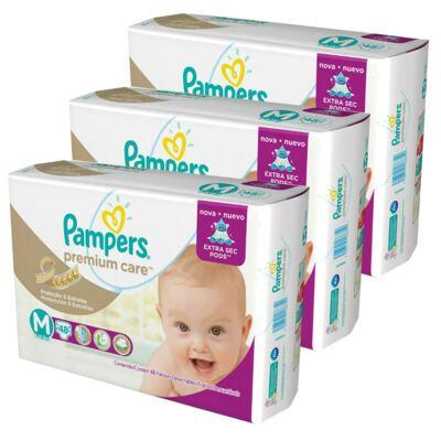 Imagem 4 do produto Kit 3 Fraldas Pampers Premium Care Mega M 144 Unidades