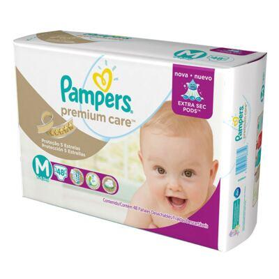 Imagem 15 do produto Kit 3 Fraldas Pampers Premium Care Mega M 144 Unidades