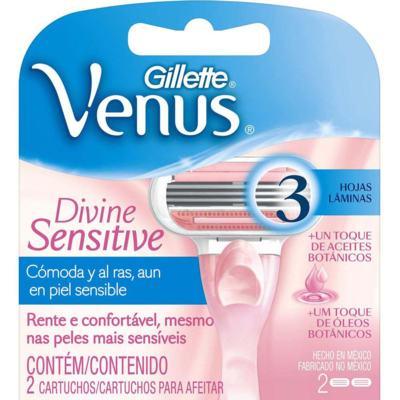 Imagem 4 do produto Carga para Aparelho Gillette Venus Divine Sensitive 2 Unidades