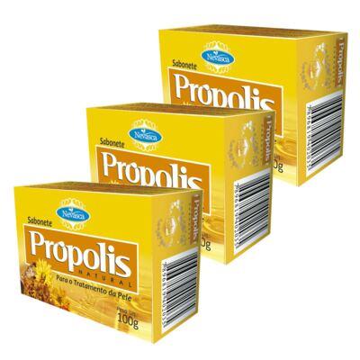 Imagem 1 do produto Nevasca Sabonete Natural Própolis 100g 3 Unidades