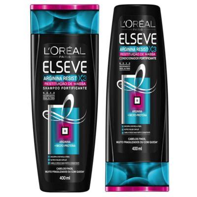 Kit Elseve Shampoo e Condicionador Arginina X3