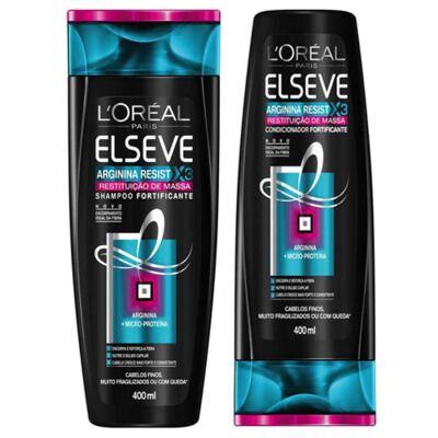 Imagem 2 do produto Kit Elseve Shampoo e Condicionador Arginina X3