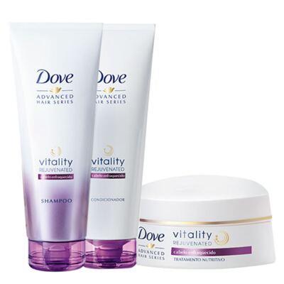 Kit Dove Vitality Rejuvenated Shampoo + Condicionador 200ml + Creme de Tratamento 350g