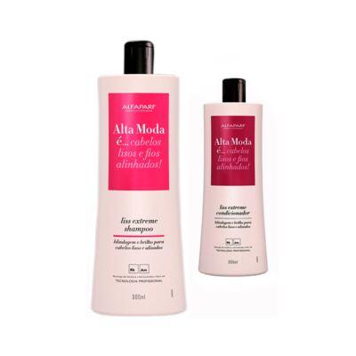 Imagem 1 do produto Kit Alta Moda Liss Extreme 2 Shampoo + 1 Condicionador 300ml