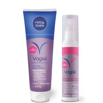 Imagem 1 do produto Kit Vagisil Sabonete Líquido Íntimo Prevent Plus 300g + Desodorante Íntimo 60ml