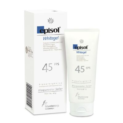 Imagem 4 do produto Kit Protetor Solar Episol Whitegel FPS 45 60g + Sabonete Facial Glycare Barra 90g