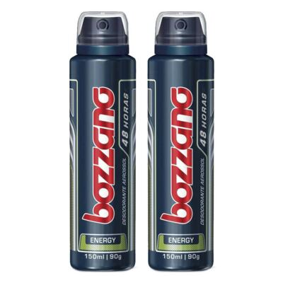 Imagem 1 do produto Kit Desodorante Aerosol Masculino Bozzano Energy 90g 2 Unidades