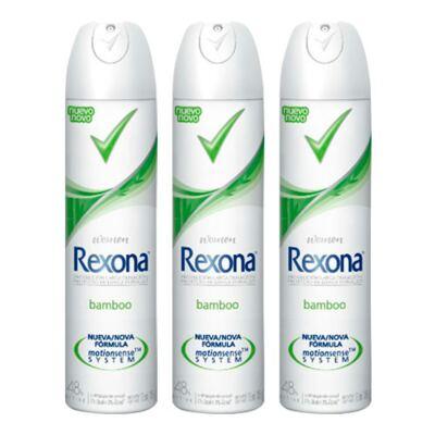 Kit Desodorante Aerosol Rexona Feminino Bamboo 105g 3 Unidades