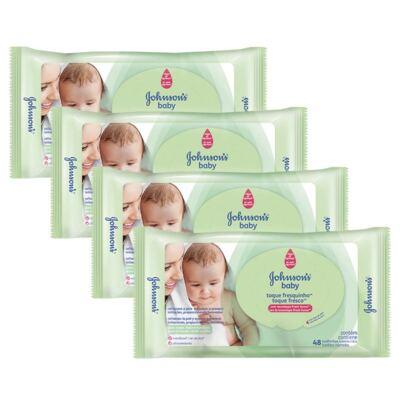 Imagem 1 do produto Kit 4 Lenços Umedecido Johnson´s Baby Toque Fresquinho 192 Unidades
