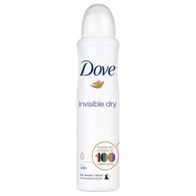 Imagem 2 do produto Kit Desodorante Aerosol Dove Invisible Dry Feminino 100g + Desodorante Aerosol Dove Men Care Invisible Dry Masculino 89g