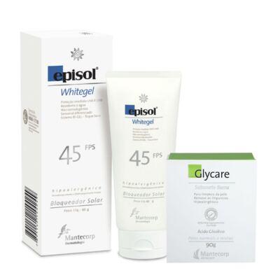 Imagem 2 do produto Kit Protetor Episol Whitgel Fps45 60gr + Sabonete Em Barra Glycare 90g