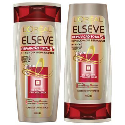 Kit Elseve Reparação Total 5 Shampoo 400ml + Condicionador 400ml