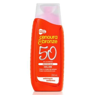 Imagem 3 do produto Kit Cenoura & Bronze Protetor Solar Fps 50 200ml + Protetor Fps 50 110ml