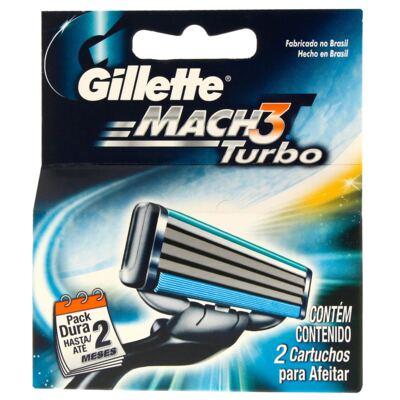 Carga Gillette Mach3 Turbo com 2 Unidades