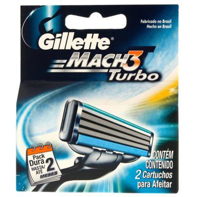 Imagem 1 do produto Carga Gillette Mach3 Turbo com 2 Unidades
