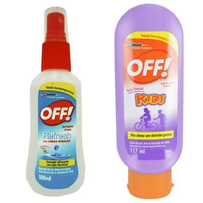 Repelente Off Kids 117ml + Repelente Off Family Fresh Spray 100ml