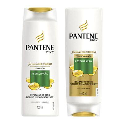 Imagem 1 do produto Kit Pantene Restauração Shampoo 400ml + Condicionador 400ml