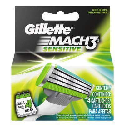 Imagem 2 do produto Kit Carga Gillette Mach 3 Sensitive 4 Unidades + Aparelho Vênus