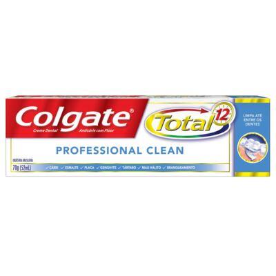 Imagem 2 do produto Creme Dental Colgate 12 Professional Clean - 70g