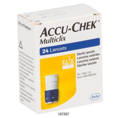 Imagem 2 do produto Lanceta Accu-chek Multiclix Roche C/ 24 Unidades 4 Tambores C/ 6 Lancetas