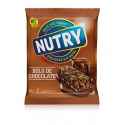 Barra de Cereal Nutry Bolo de Chocolate C/ 3 Unidades
